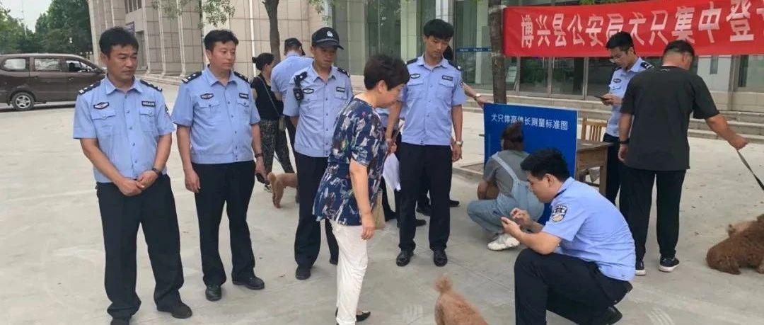 当标杆、做示范、走前列 博兴公安为职工家属养犬人员集中办理犬证
