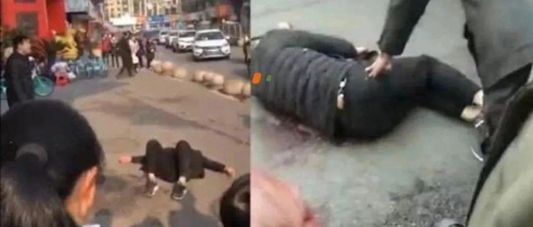 突发!安徽一男子当街持匕首将另一男子刺伤!警方通报来了…