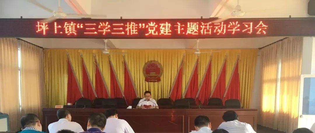 """坪上镇开展第二十一个""""三学三推""""党建主题日活动"""