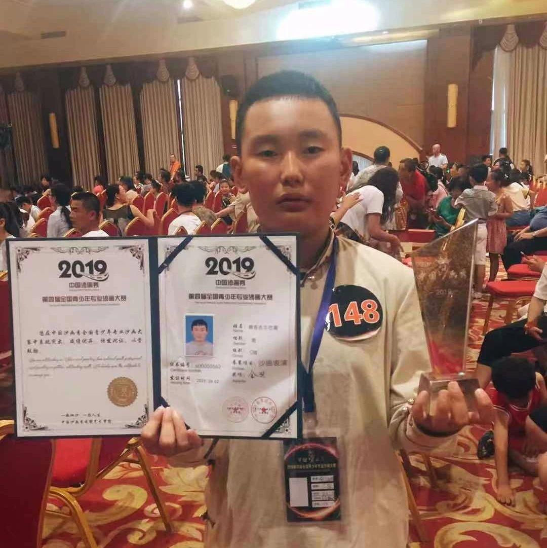 快看|这位阿拉善少年以作品《武松打虎》获全国专业沙画大赛金奖!