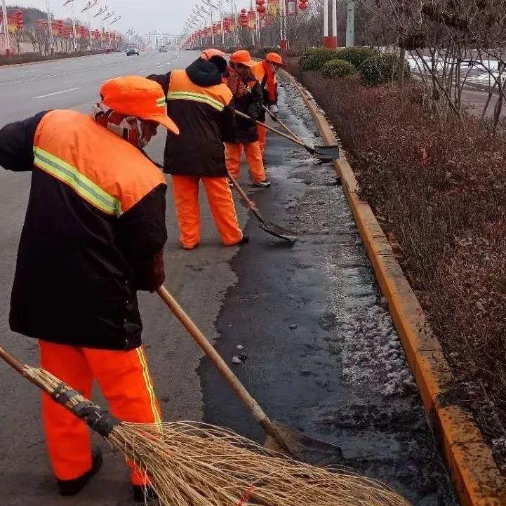 在涉县,有一种假期叫:坚守,新春的整洁有序离不开他们