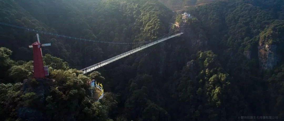 赣州第一高玻璃桥载重测试成功!