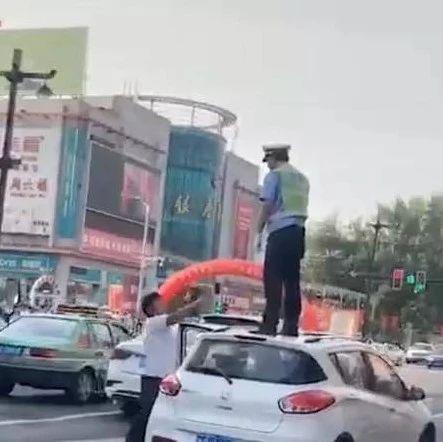 """洛阳人朋友圈疯传视频""""男子大骂站车顶的保通员""""!真相太吓人了!"""