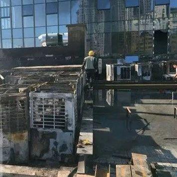 两男子无焊工证操作,引发洛阳一高层失火被拘!
