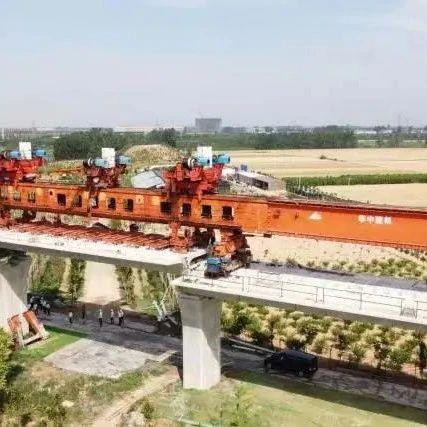 大周最后一孔节段梁安装到位,郑许市域铁路许昌段全线贯通