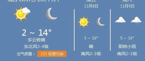 11月7日保定天气