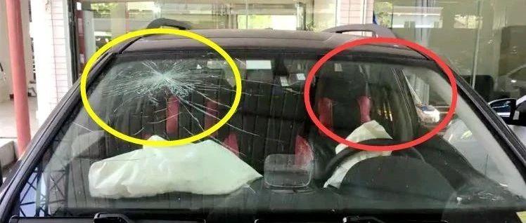同一块挡风玻璃,一边完好一边龟裂,因为……|一盔一带