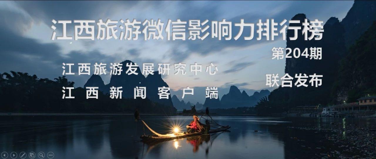 第204期江西旅游微信排行榜(2019.05.20-2019.05.26)速�f――江�旅游/江西新�客�舳�