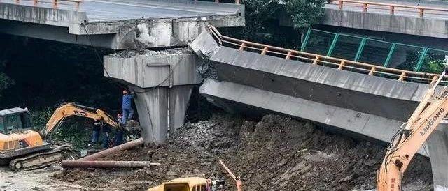 无锡高架桥垮塌系两货车在同一车道超载引是某个强者发!均装载上百吨
