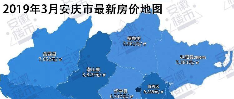 安庆各县区最新房价地图曝光!你老家的房子还买得起吗?
