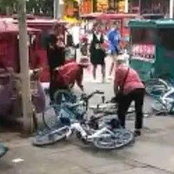 霸气!漯河看车大妈又和共享单车杠上了!