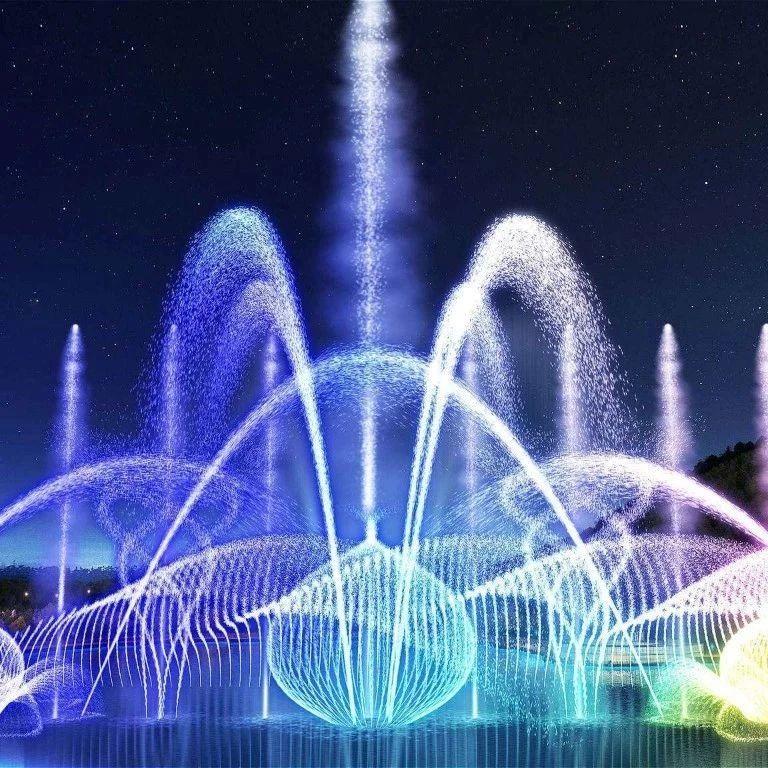 漯河西城区月湾湖音乐喷泉,恢复播放公告!