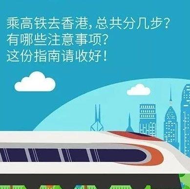 坐高铁去香港,总共分几步?这份指南请收好!