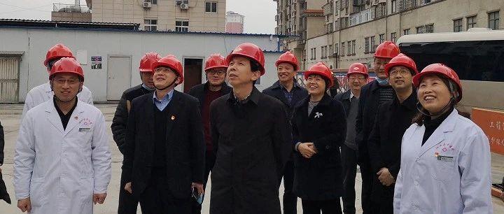 县委书记李小平调研住院大楼项目复工情况