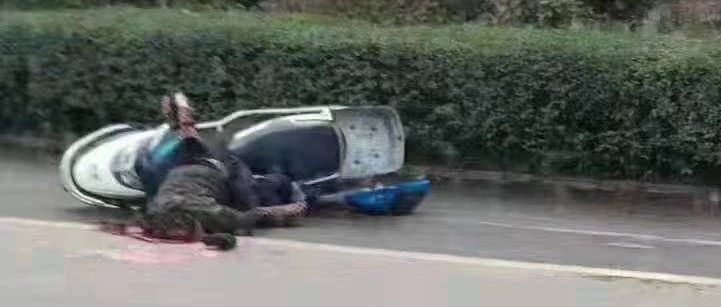蓬溪发生惨烈车祸!电瓶车驾驶员头部被碾压,现场不忍直视!
