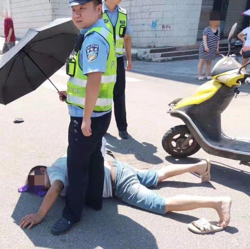 蓬溪男子倒在38℃高温地面神情痛苦,这一幕却令人感动!
