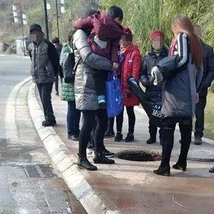 好吓人!蓬溪一孕妇散步时突发惊险一幕,引众人围观!