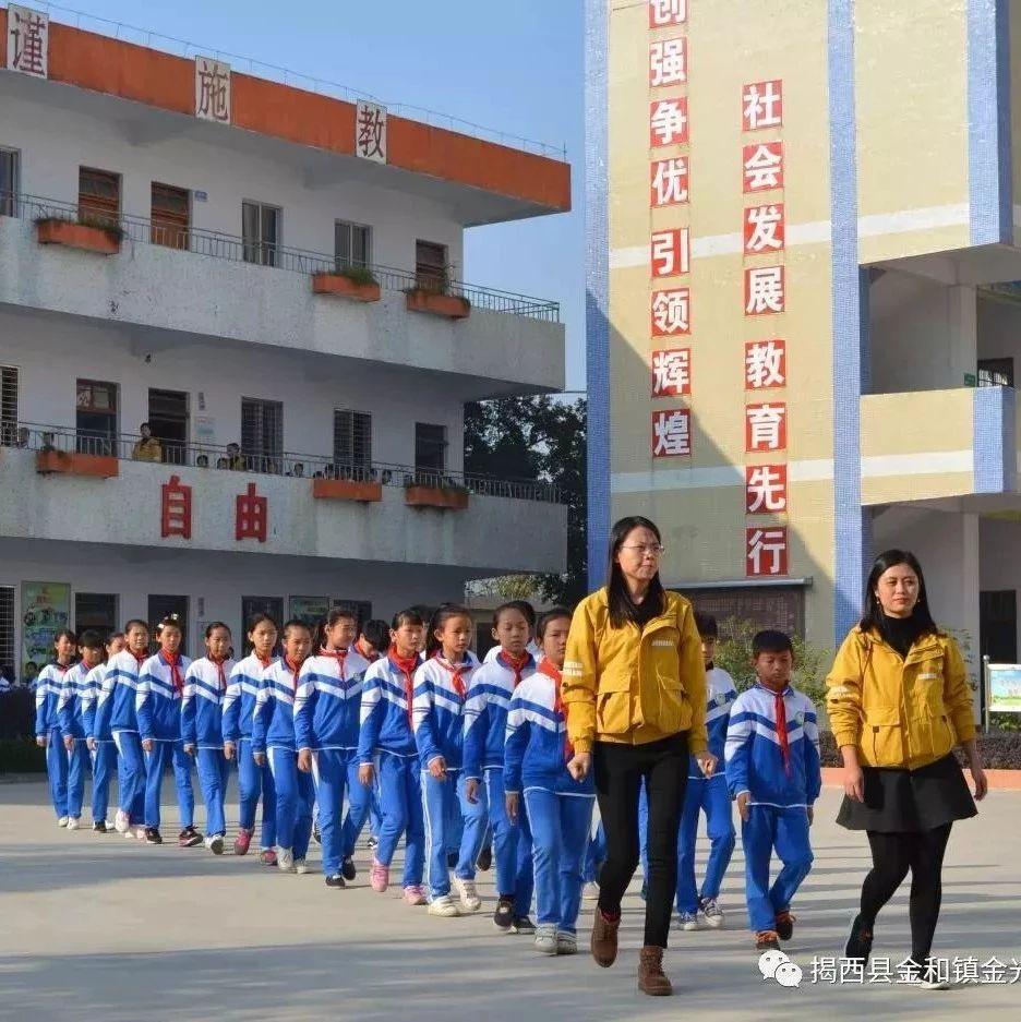 激情奔放强身健体――揭西县金光小学阳光体育大课间展示活动