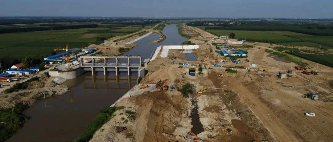 小清河复航工程(博兴段)金家桥船闸紧张施工中