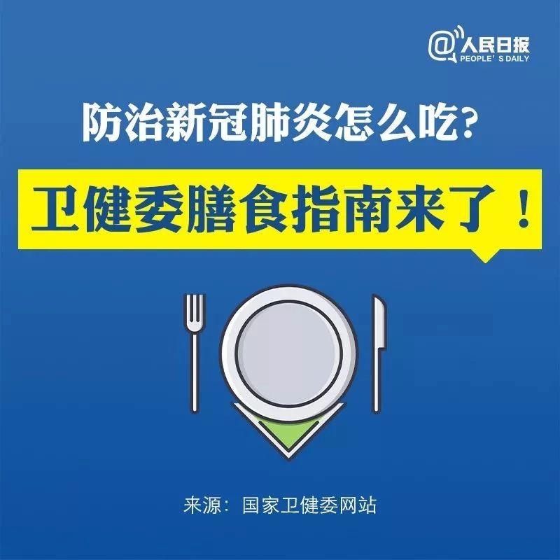 防治新冠肺炎怎么吃?�l生健康委膳食指南�砹�!