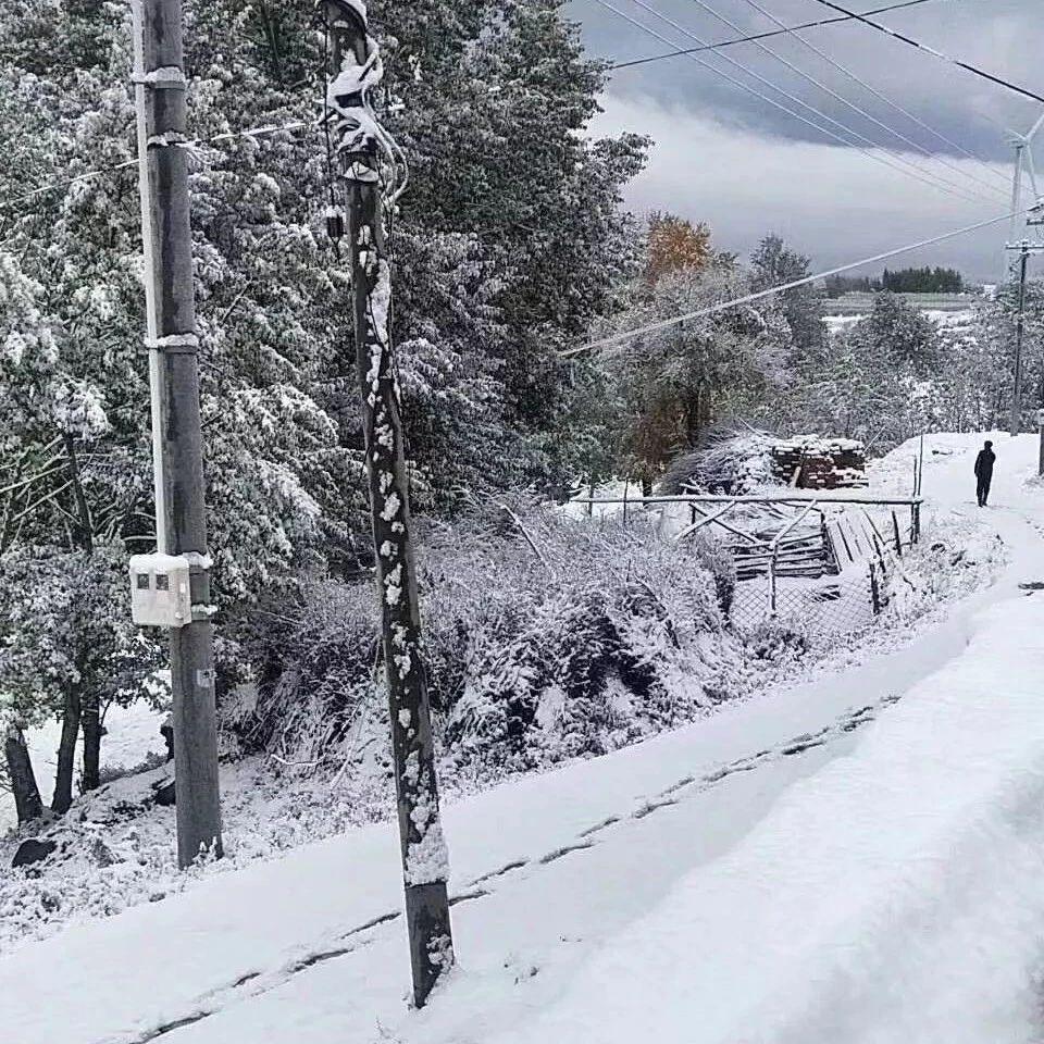 宁城下雪了!建平的冬天也不远了!这两天气温暴跌!