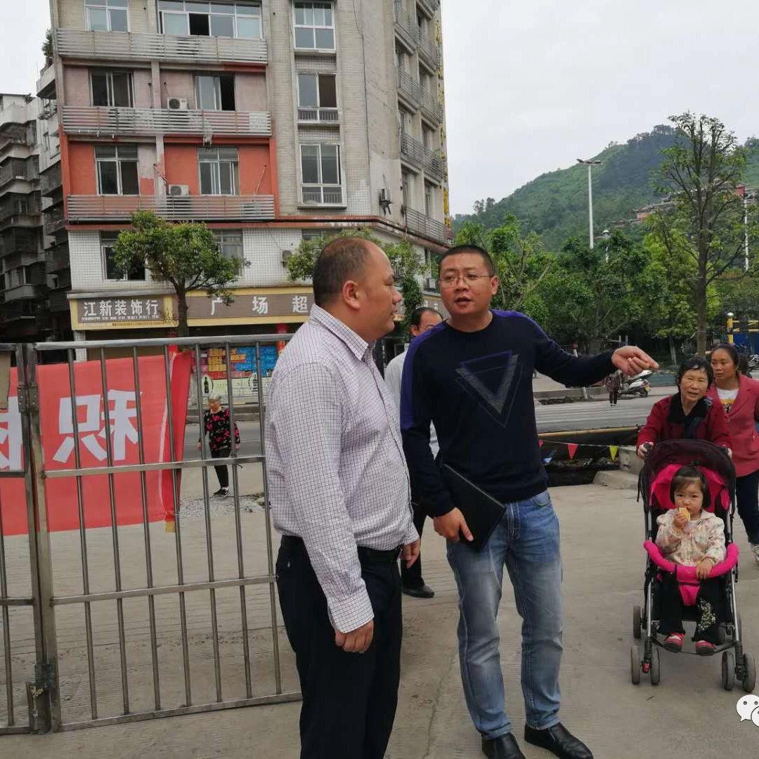 筠连副县长何俊锋调研国家卫生县城复审工作