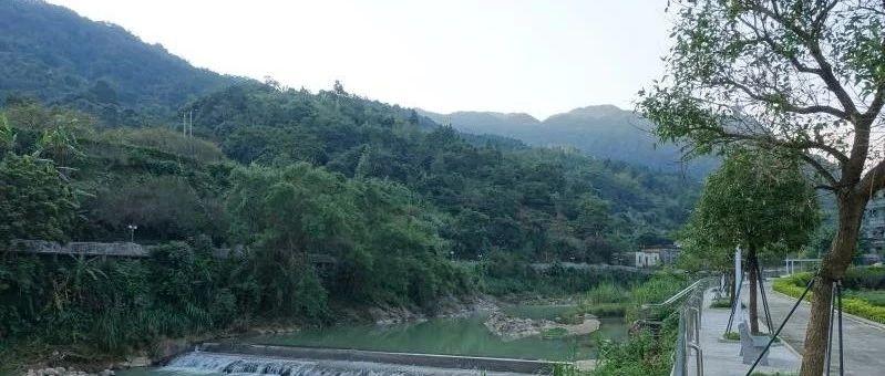 """良田乡龙岭村""""一河两岸""""景观工程已完工,欢迎大家到此观光"""