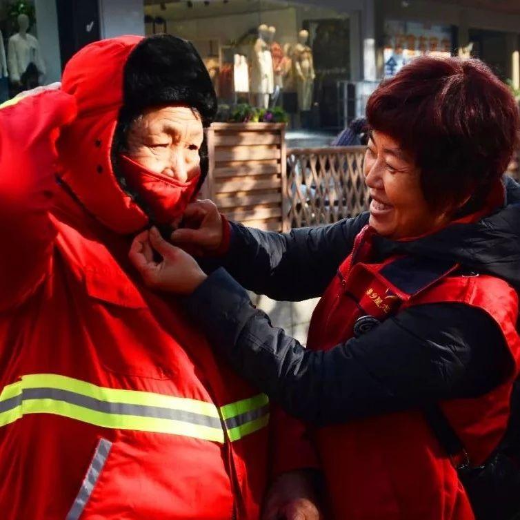 莱阳街头,这群人用行动温暖了环卫工人的心