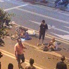 昨日凌晨,揭西一路口发生一起交通事故