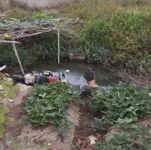 揭阳一男子酒后连人带车掉进水坑!竟泡水整夜