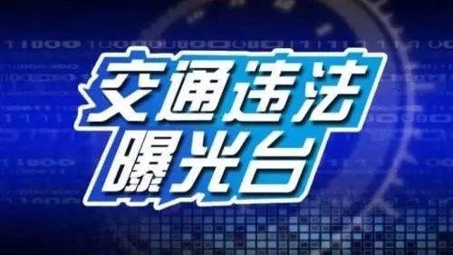 交通违法曝光台(第一期)