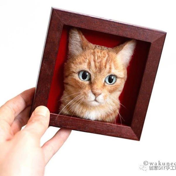 复制程度100%,猫奴们绝对想要的超拟真羊毛毡猫咪模型