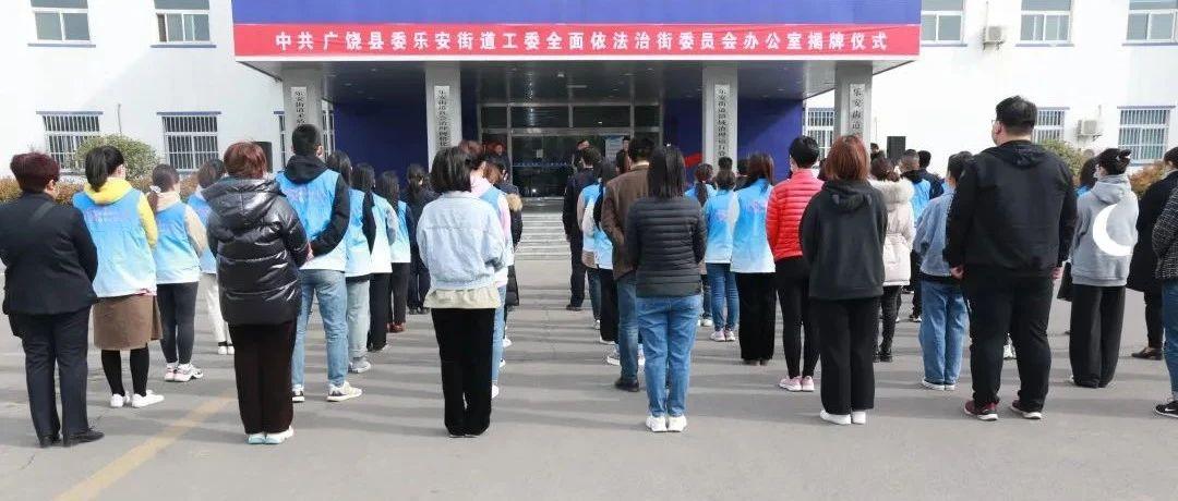 乐安街道党工委全面依法治街委员会办公室揭牌仪式举行
