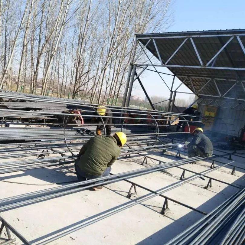 施工一线报道|磁五仓路大桥桩基开钻施工有序进行中