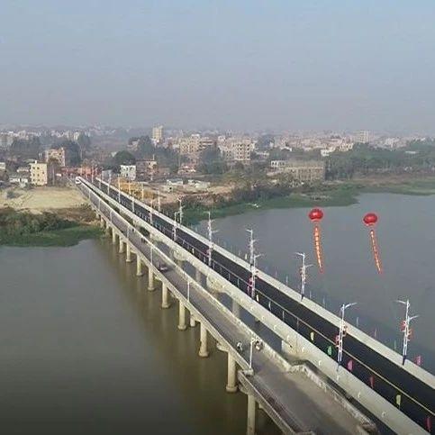 省台报道!吴川新沙美村大桥终于通车啦!