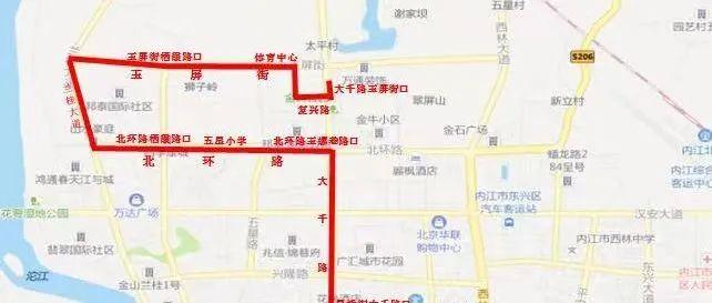 【今日头条】最新通知!明起,内江这两条公交线路有所调整!