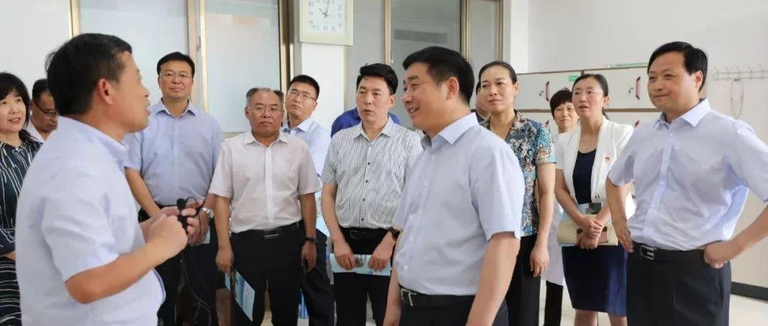 省卫健委阚全程主任对福彩3d胆码预测县人民医院进行调研!
