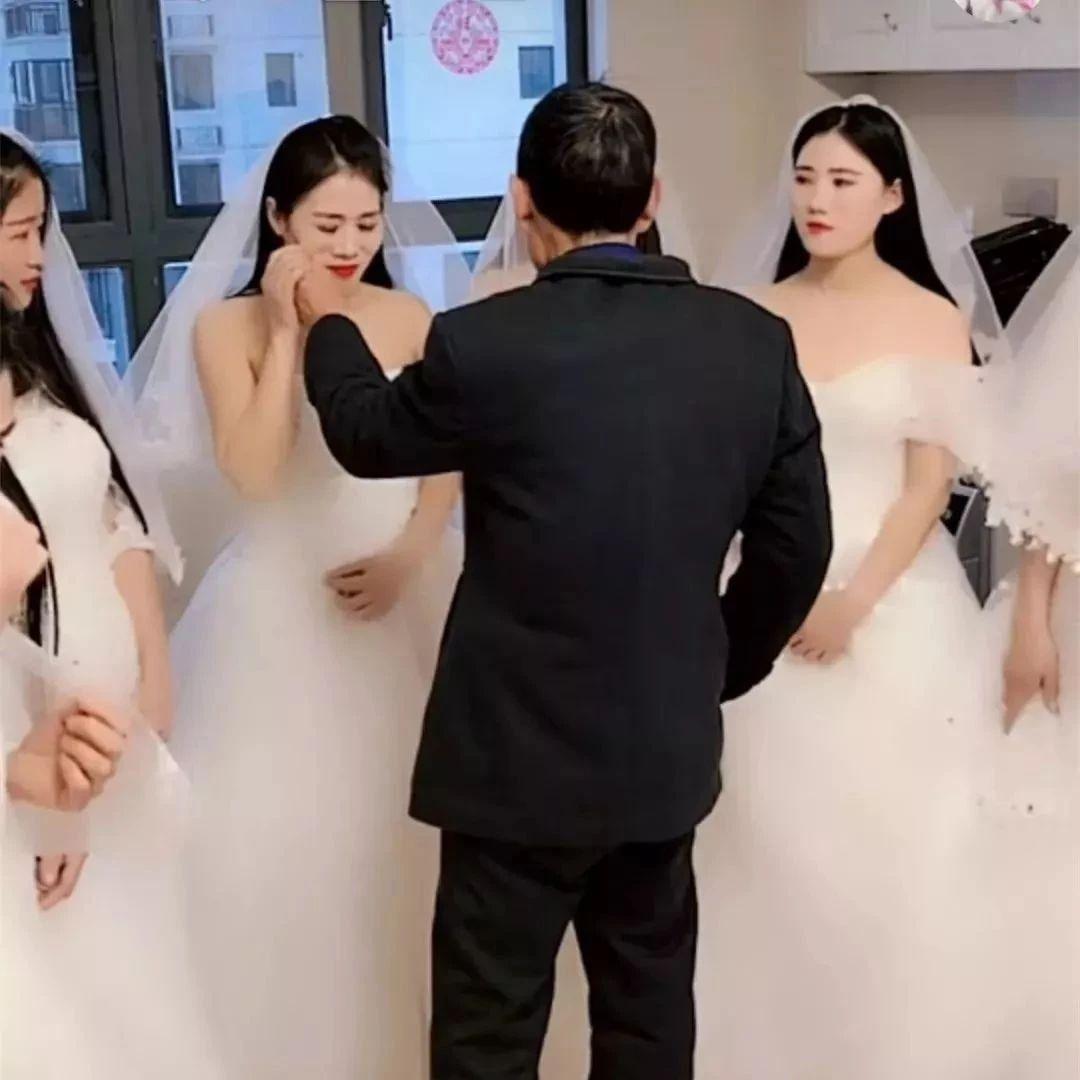 7个新娘和1个新郎拍婚纱照!她们都是自愿的!