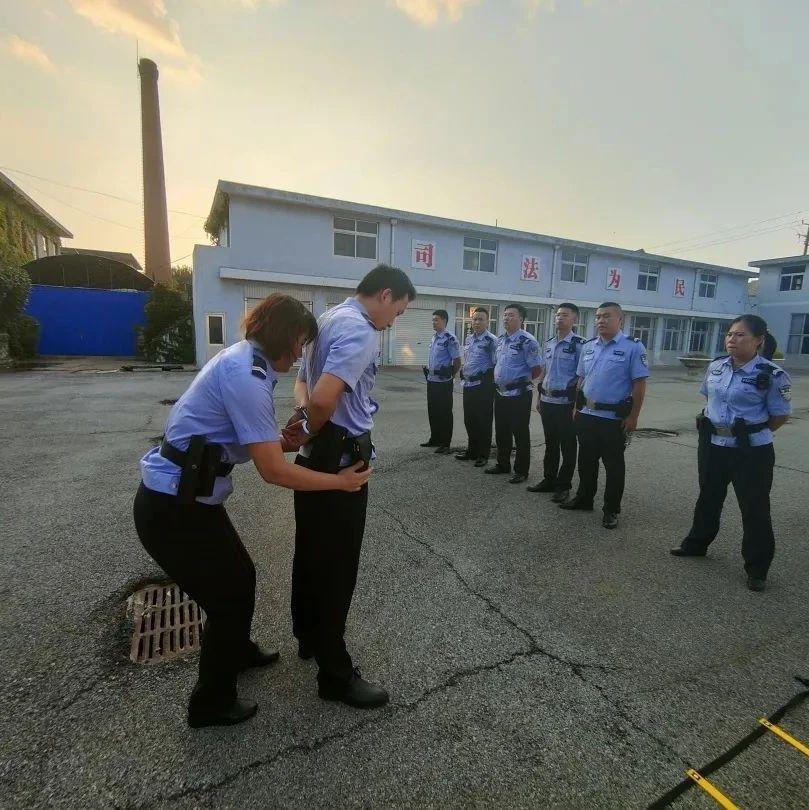 莱阳法院开展司法警察实战化演练提高安保工作能力