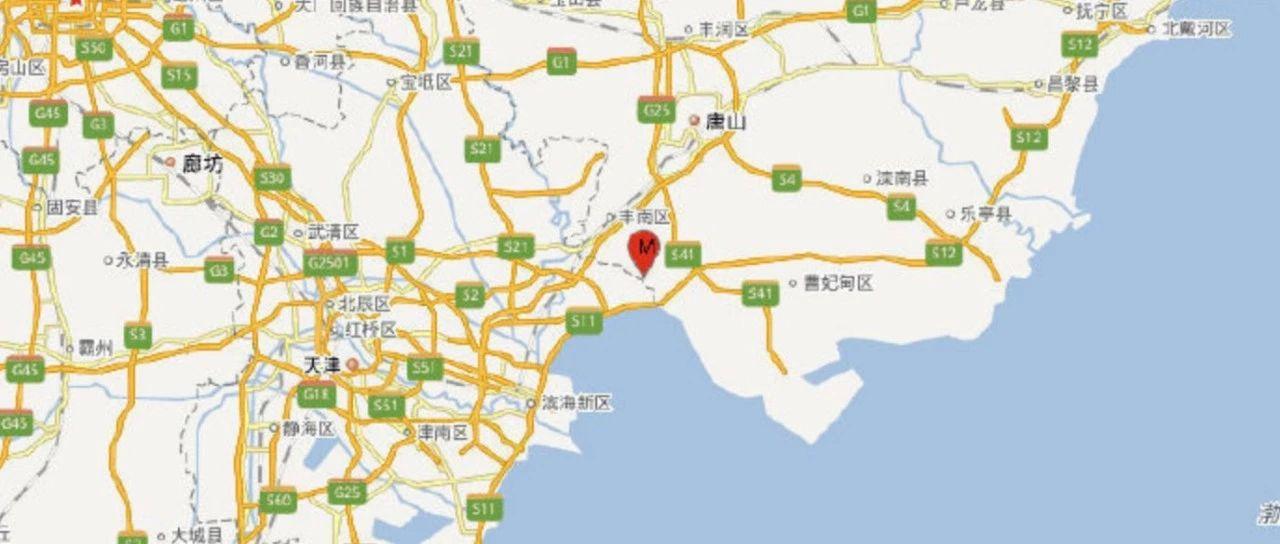 ����唐山�l生4.5�地震京津震感明�@