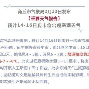 �U散!14-16日寒潮�硪u!人工增雨雪【重要天��蟾妗�