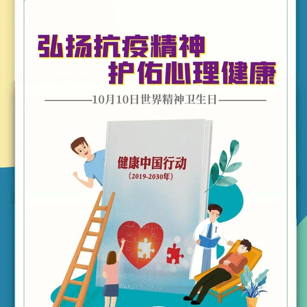 【卫生健康宣传日】2020年世界精神卫生日宣传主题、海报确定(附:视频等宣传资料)
