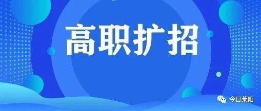 莱阳市关于公布高等职业院校扩招的公告!应届生、退役军人、下岗职工...都能报名!