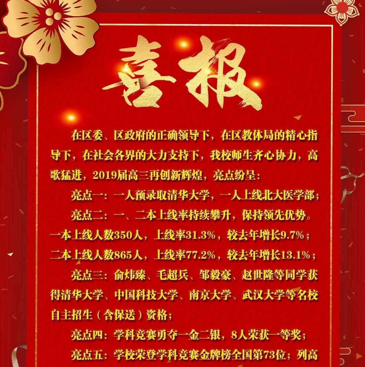 余江一中、三中2019年高考喜��