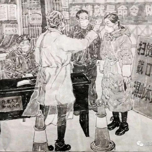 """南城�h防治""""新冠病毒""""主�}美�g作品微展"""