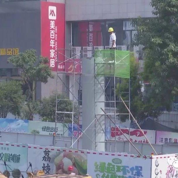 好消息!合江这里即将竣工一座人行天桥……