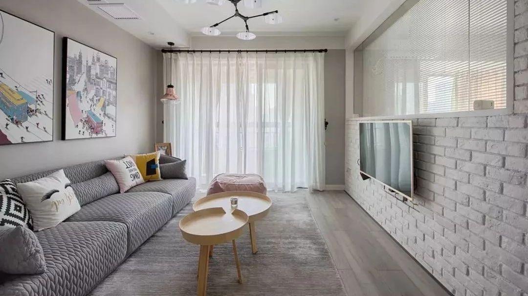 65�O温馨北欧风,家庭黑板墙让爱升温