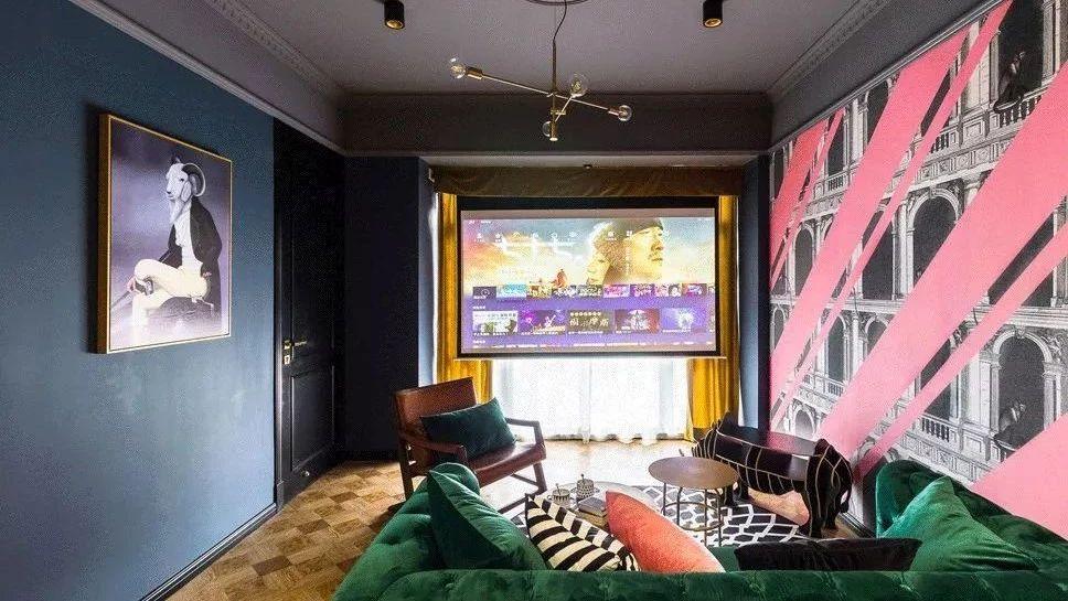 摩登时尚的59平小户型二居室,这创意的墙面好帅气