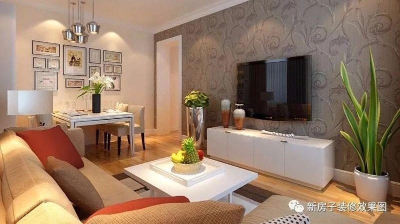 【每日装修推荐】同样6万多装修88㎡现代简约三居室,2套效果图电视墙和收纳柜都超有亮点