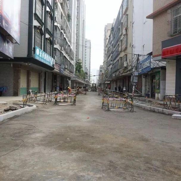 揭西县城温泉路升级改造工程已完成40%预计春节前全面完工
